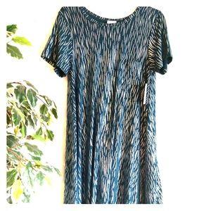 NWT Rare LuLaRoe dress Blue Metallic  Carly S